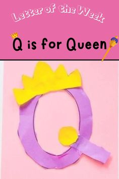 In this installment of the Letter of The Week Series kids learn Q is for Queen with a host of inexpensive activities and great reading material. For more in the letter of the week series be sure to follow along with Katie and her kids at A Little Pinch Of Perfect. Home school and classroom free printables and early learning activities and games. Early Learning Activities, Letter Activities, Reading Activities, Kids Learning, How To Make Letters, How To Teach Kids, Letter Of The Week, Letter A Crafts, Word Families