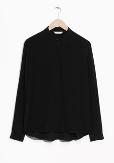 & Other Stories | Straight Fit Silk Shirt