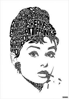 typographic portrait - Google Search