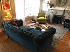 COCOCO Home #Chesterfield Sofa. We love our happy customers here at COCOCO Home.  You can personalize your own with a bright color or a different size and depth.