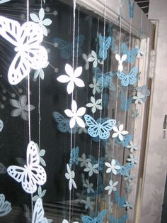 butterfly and flower garland