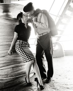 Military Engagement Photos--too cute!