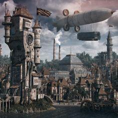Steampunk, Vladimir Petkovic on ArtStation at https://www.artstation.com/artwork/steampunk-216bcd26-f43a-41d1-bfc7-398181efa36c