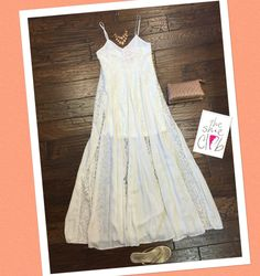 Can you see yourself at the beach with this dress? I can   Maxi Lace Dress $75 TKEES $52 Chan Luu Necklace $220 Clutch $40