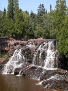 Upper Gooseberry Falls, Lake Superior  Minnesota