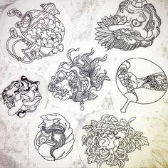 i like horimono. Japanese Drawings, Japanese Artwork, Japanese Tattoo Art, Eye Illustration, Japanese Illustration, Storm Tattoo, Japanese Mask, Art Asiatique, Japanese Folklore