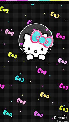 Wallpaper Phone Dark Hello Kitty 32 Ideas For 2019 Wallpaper Iphone Quotes Backgrounds, Wallpaper Wa, Hello Kitty Backgrounds, Hello Kitty Wallpaper, Cute Disney Wallpaper, Wallpaper Iphone Cute, Cute Wallpapers, Wallpaper Keren, Trendy Wallpaper