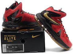 official photos e9101 c001f Lebron 10 P.S Elite Red Gold Black1 Air Max Sneakers, Sneakers Nike, Nike  Air