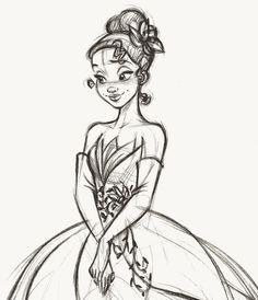 Tiana - Fairytale Designer Collection rough sketch by stevethompson-art.