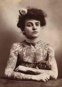Nora Hildebrandt was America's first professional tattooed lady
