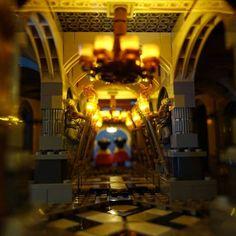 LEGO Disney Castle 360 - HelloBricks Lego Princesse Disney, Lego Disney Princess, Lego Disney Castle, Lego Castle, Chateau Lego, Chandelier, Ceiling Lights, Candles, Home Decor