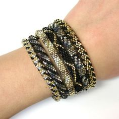 "Party ""6-Stack"" Dark Glam Lily & Laura Bracelets - Fair Trade from Nepal. Get a big discount when you select from our pre-picked sets of 6! Click for details about free shipping!"