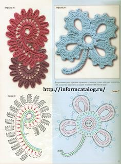 Irish lace, crochet, crochet patterns, clothing and decorations for the house, crocheted. Crochet Diy, Crochet Paisley, Beau Crochet, Irish Crochet Patterns, Crochet Motifs, Crochet Diagram, Freeform Crochet, Crochet Designs, Crochet Stitch