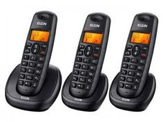 Telefone Sem Fio Elgin com 2 Ramais - Identificador de chamadas - TSF-7003