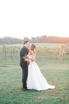 Romantic Winery Wedding Photos with an Impressionist Bouquet of Roses Inspiration Wedding Styles, Wedding Photos, Wedding Vendors, Weddings, Burgundy Gown, Twist Ponytail, Flower Garlands, Vineyard Wedding, Couples In Love