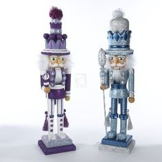 """19""""HOLLY WOOD PURPLE, WHITE, BLUE & SILVER SOLDIER 158806"""