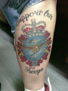 1000 images about canadian armed forces support our for Canadian patriotic tattoos