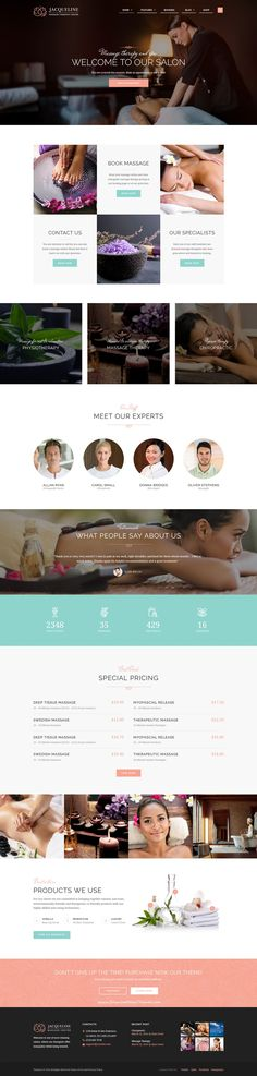 Jacqueline is premium #WordPress theme for #spa, beauty #salon or #wellness center website. Download Now!