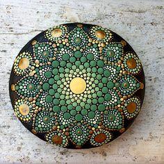 Green & Gold Stonemandala