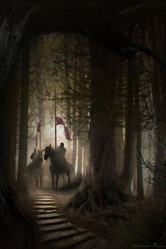 Knights in the Woods by Alexandr Malex