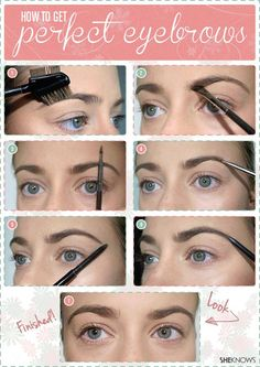 Define your eyebrows - How to Get Perfect Eyebrows