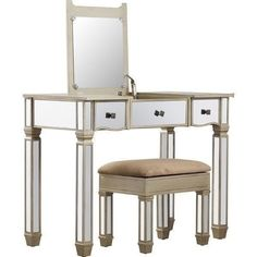 mirrored furniture vanity. mirrored vanity set glass storage stool bed room table contemporary furniture
