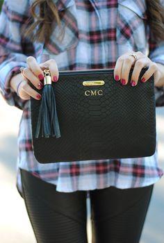 GiGi New York | Southern Curls & Pearls Fashion Blog | Black All In One Clutch
