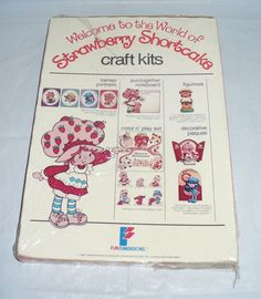 1980 Vintage American Greetings Strawberry Shortcake Color Sew Storybook