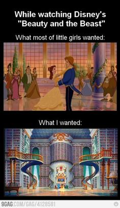 I'd marry Beast just for his library!!