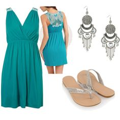 Metallic flip flops and a bright dress are essential for a tropical honeymoon!