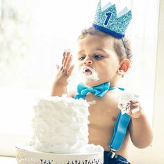First Birthday Crown  1st Birthday Boy Outfit for Cake Smash
