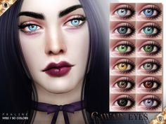 Gawain Eyes N132 by Praline Sims for The Sims 4