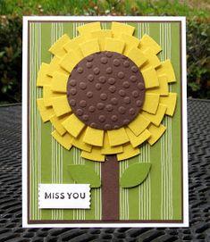 Krystal's Cards: Stampin' Up! Sunburst Sayings Sunflower Reject #stampinup #krystals_cards #sunburstsayings