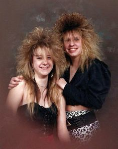 "These hairstyles totally say, ""Why yes, I do own a copy of Bon Jovi's Slippery When Wet."""