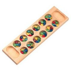 Beautiful Mancala game board. Board made in the USA out of locally sourced, sustainably harvested pine and finished with a clear, non-toxic finish.   $18.95 #mightynest