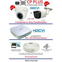 1 MP  HD CCTV Cameras 2 with 4Ch. HD DVR Kit with All Accessories CPPLUS