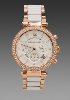 Michael Kors Parker #Watch in Metallic Copper in Pink (metallic copper)