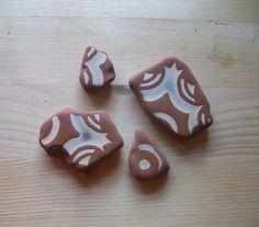Sea pottery colore crema e terracotta di lepropostedimari su Etsy, €7.00