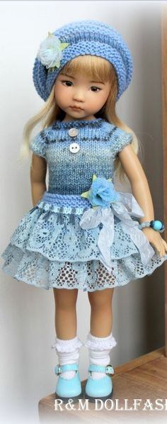 Blue Outfit for Little Darling- Effner