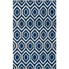 Safavieh Chatham Dark Blue/Ivory 6 ft. x 9 ft. Area Rug-CHT731C-6 at The Home Depot