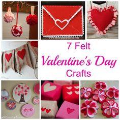 7 Felt Valentine's Crafts