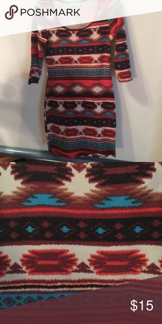 Nice Aztec print shirt/dress Very pretty small Dresses Mini