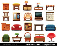 Furniture Clipart Clipart Furniture Home Decor Clipart Home with regard to Furniture Clipart 35432 Dollhouse Furniture, Home Furniture, House Clipart, Flat Interior, Paper Houses, Cool House Designs, Household Items, Household Budget, House Rooms