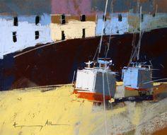 """Sea Wall"" original fine art by Tony Allain"