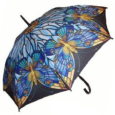 Full Size Tiffany Stained Glass Butterfly Umbrella (to replace the one that was stolen)