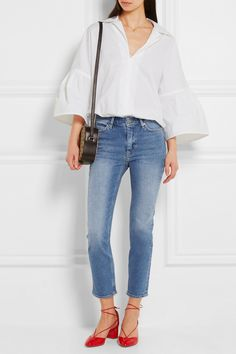 MIH Jeans paz niki cropped mid-rise skinny jeans