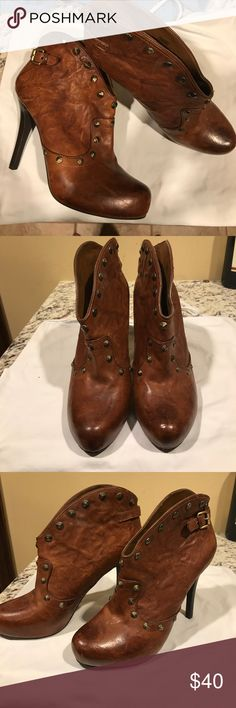 BCBG generations Brown Leather Booties Beautiful brown leather booties never worn with very soft leather! BCBGeneration Shoes Ankle Boots & Booties
