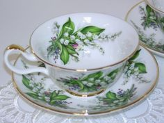 Lily of the Valley, Bone China Tea Cup Made In England-- Mammaw T