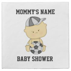 Personalized Soccer Baby Shower Paper Napkins