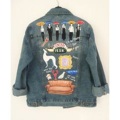 FRIENDS Hand painted denim jacket